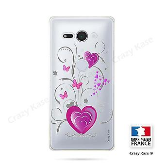 Hull For Sony Xperia Xz2 Compact Soft Pattern Heart And Butterfly
