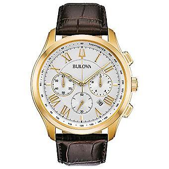 Montre Bulova chronographe quartz homme avec cuir 97B169