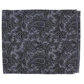 Michelsons London Paisley ull Scarf - grå/svart