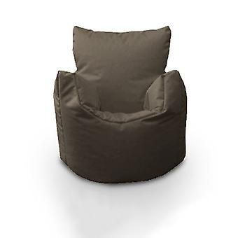 Kinderen 100% Katoen Twill Pre-Filled Bean Chair, Grijs