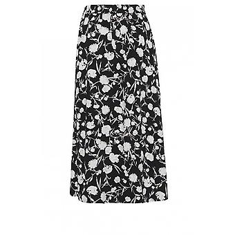 b.young Black & White Floral Skirt