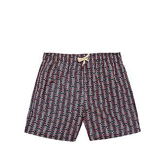 Benibeca Men's Rotuma Printed Swim Shorts Black