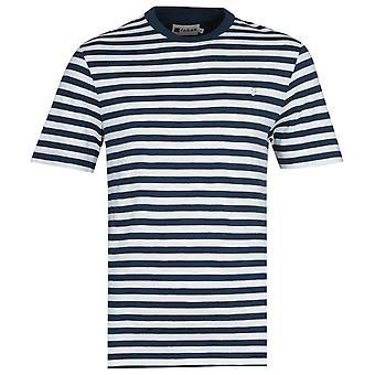Farah Montego Navy Stripe T-Shirt