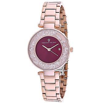 Christian Van Sant Women's Dazzle Red Dial Watch - CV1215