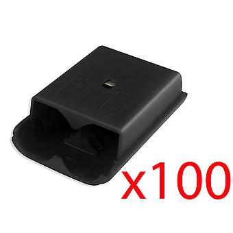 100 Xbox 360 Wireless Controller Black Battery Cover Pack Shell