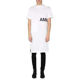 Un'imboscata 12112059whte Uomo's T-shirt in cotone bianco