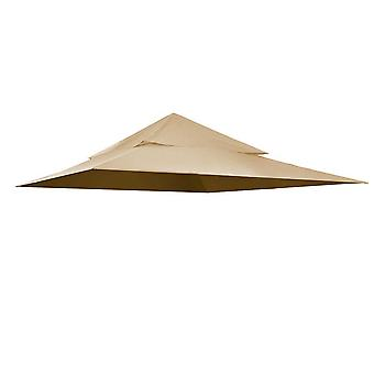 Yescom 12'x12' Canopy Top Replacement Beige for 2-Tier Harbor Gazebo GFS01250A Patio Cover Y01212T01