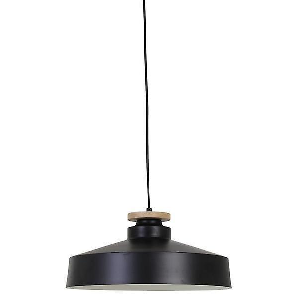 Hanging Lamp Neda Disk Wood Black