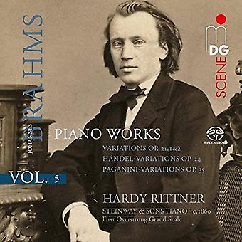 Hardy Rittner - Brahms: Piano Works 5 [CD] USA import