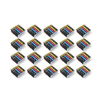 RudyTwos 20x Replacement for Canon PGI-570 CLI-571 Set Ink Unit Black Cyan Magenta & Yellow Compatible with PIXMA MG5750, TS5050, MG5751, MG5752, MG5753, MG6850, MG6851, MG6852, MG6853, TS5051, TS5053