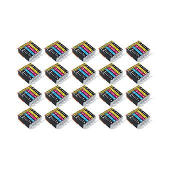 RudyTwos 20 X Ersatz für Canon PGI-570 CLI-571 Set Tinte Einheit schwarz Cyan Magenta & Gelb kompatibel mit PIXMA MG5750, TS5050, MG5751, MG5752, MG5753, MG6850, MG6851, MG6852, MG6853, TS5051, TS5053