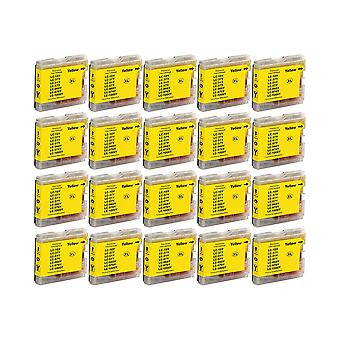 RudyTwos 20x Replacement for Brother LC-970Y/1000Y Ink Unit Yellow Compatible with DCP-130C, DCP-135C, DCP-150C, DCP-153C, DCP-155C, DCP-157C, DCP-260C, DCP-330C, DCP-350C, DCP-353C, DCP-357C, DCP-375