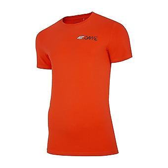 4F H4L20 TSM030 Pomarańcz H4L20TSM030POMARACZ universal all year men t-shirt