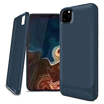 For iPhone 11 Pro Case Carbon Fiber Texture Slim Strong Soft Cover Blue