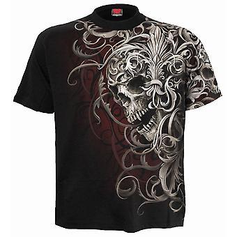 Spiral - skull shoulder wrap - allover t-shirt