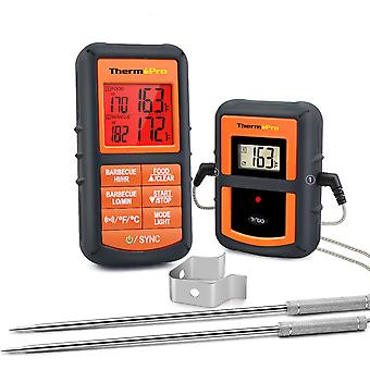 Wireless Thermometer, Dual Probe For Bbq, Smoker, Grill, Oven, With Timer