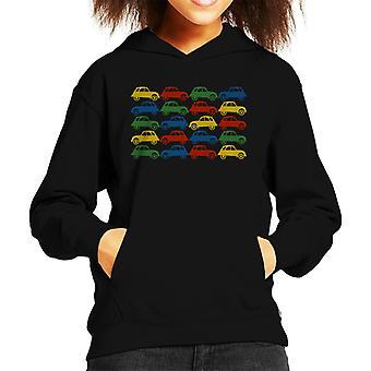 Citro?n 2CV Vintage multi farge mønster kid&ampos;s hettegenser