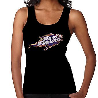 Fast and Furious Orange Purple Logo Women's Vest