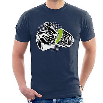 Mountain Dew chainsawed puoli miesten ' s T-paita