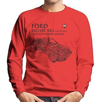 Haynes proprietários Workshop Manual 0686 Ford Escort XR3 preto de moletom masculino
