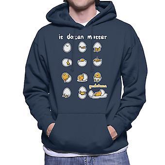 Gudetama It Dozen Matter Men's Hooded Sweatshirt