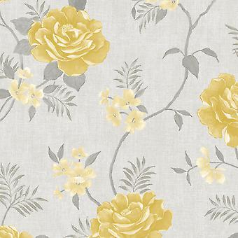 Rosalind Floral Tapete Ocker Muriva 173502