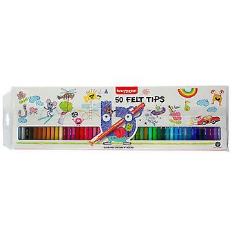 Bruynzeel Felt Tip Pens Set of 50 Colours