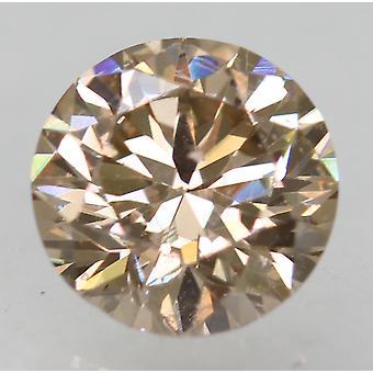 Cert 0.81 カラット ライト ブラウン VVS1 ラウンド ブリリアント ナチュラル ルーズ ダイヤモンド 5.91m 3EX