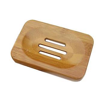 Eco-friendly Natural Bamboo Wood Soap Tray - Bathroom Shower Soap Tray Dish