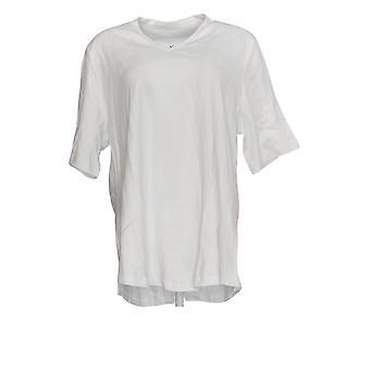 Isaac Mizrahi Live! Women's Top Essentials Elbow Sleeve White A289635