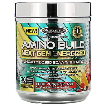 Muscletech, Amino Build Next Gen Energized, Fruit Punch Splash, 10.03 oz (284 g)
