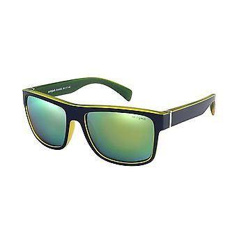 Sunglasses Unisex blue/yellow with golden lens ZO0009A