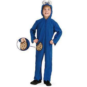 Biscuit Monster Jumpsuit Bambini Costume Blu Mostro Unisex