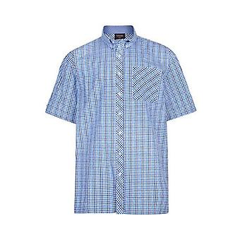 Espionage Navy Blue & Turquoise Check Shirt