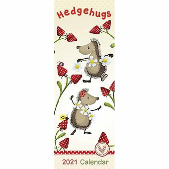 Otter House 2021 Slim Calendar-hedgehugs