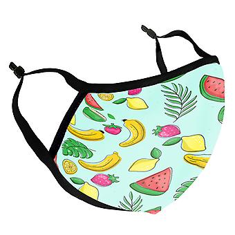 Cartoon Fruit Pattern Kid's Reusable Fabric Face Mask