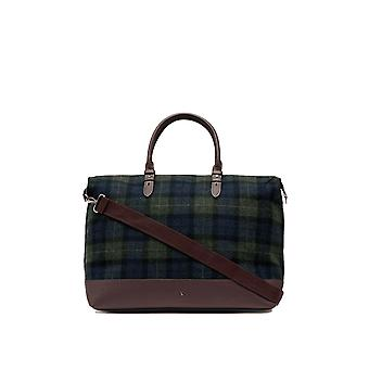 Joules Fulbrook Holdall Tweed Bag - Navy Green Check