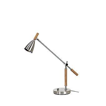 Belid Frank - 1 Light Table Lamp Aluminium, Oak