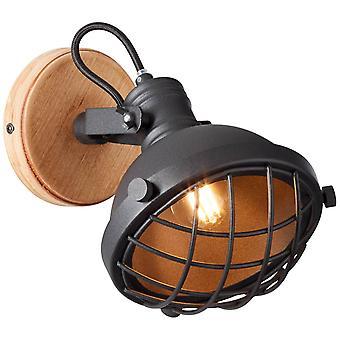 BRILLANTE Lámpara Emma Pared Spot corindón negro ? 1x D45, E14, 25W, adecuado para lámparas de caída (no incluidas) Escala A++