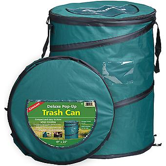"Coghlan-apos;s Deluxe Pop-Up Trash Can, 19"" x 24"" Compact Storage Pocket Zipper Lid"