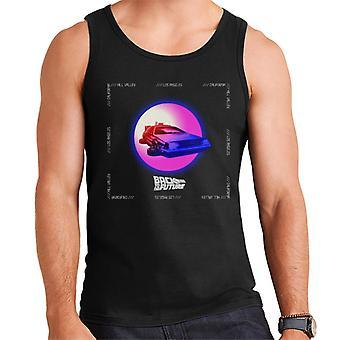 Back to the Future Delorean Purple Moon Men's Vest
