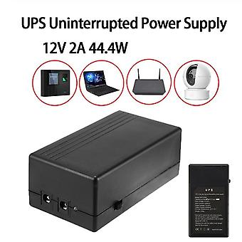 12v 2a 44.4w Security Standby Power Supply Ups Uninterrupted Backup Mini Battery For Camera Router