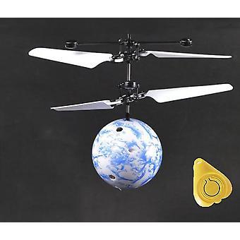 Mini Drone Rc helikopter, flygplan Flying Ball Leksaker - Shinning Led Belysning