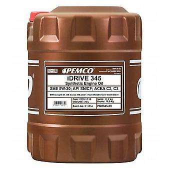 Pemco iDrive 20L Drum Fully Synthetic  5w30 Car motor Oil Low Saps C3