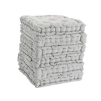 Nicola Spring Square Padded French Mattress Dining Chair Cushion Seat Pad - Grey - Pack of 12