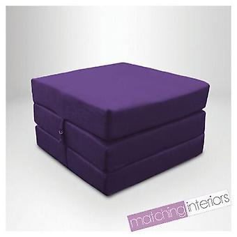 Klaar stabiel bed | Waterbestendig uitklapbare Z Bed Cube Matras met bevestiging (Paars)
