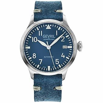 Gevril 43501 Men's Vaughn Swiss Automatic Leather Date Watch