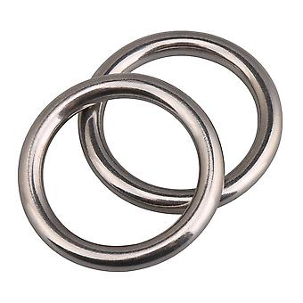 304 Stainless Steel Heavy Duty Round Ring for Hammock 1.37 Inch Set of 2