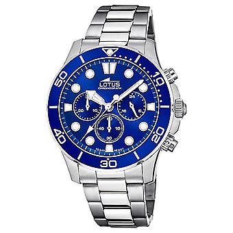 Lotus Men's Stainless Steel Bracelet   Blue Chronograph Dial L18756/1 Watch
