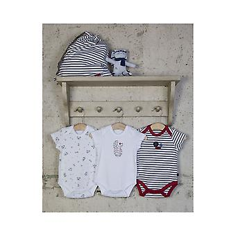 The Essential One Baby Unisex Nautical Bunny Bodysuits - 3 Pack